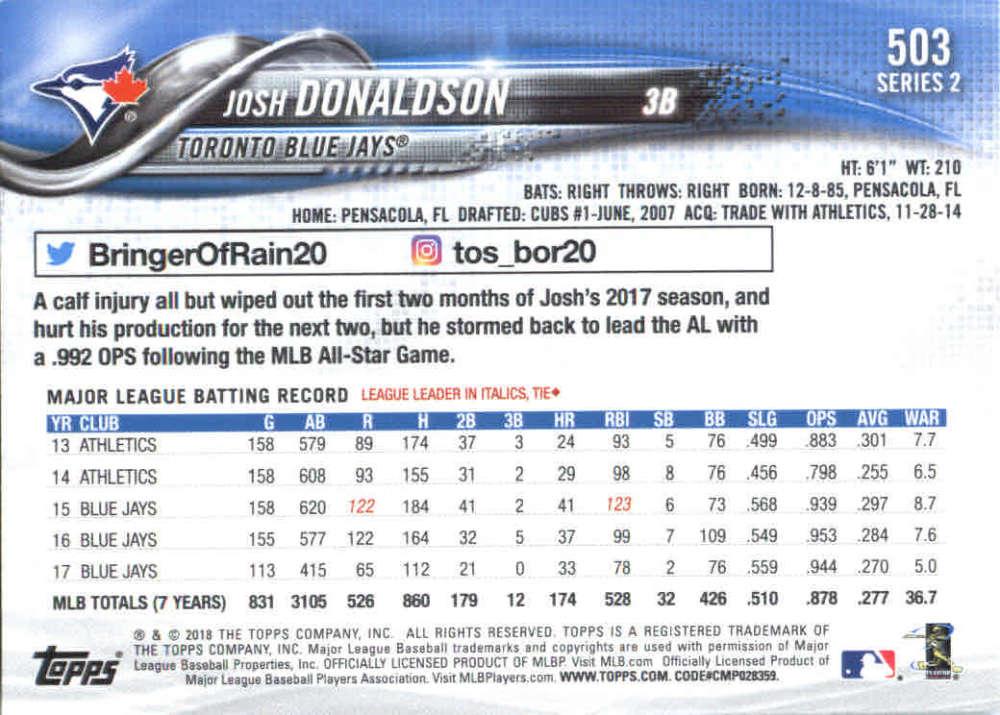 2018-Topps-Series-2-Baseball-Base-Singles-351-550-Pick-Your-Cards thumbnail 299