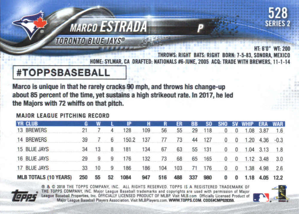 2018-Topps-Series-2-Baseball-Base-Singles-351-550-Pick-Your-Cards thumbnail 349