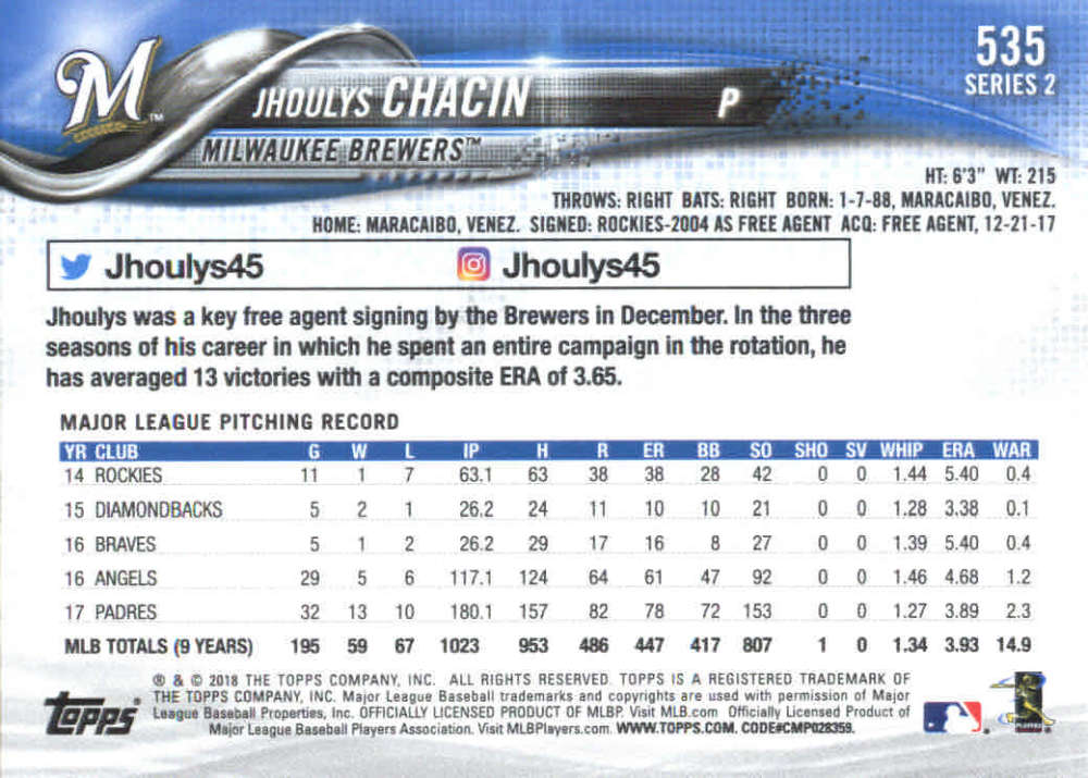 2018-Topps-Series-2-Baseball-Base-Singles-351-550-Pick-Your-Cards thumbnail 363