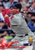 2018 Topps #18 Rafael Devers NM-MT RC Rookie