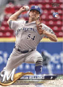 2018 Topps #505 Taylor Williams NM-MT RC Brewers