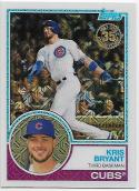 2018 Topps '83 1983 35th Anniversary Silver Pack Chrome #7 Kris Bryant Chicago Cubs
