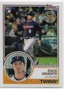 2018 Topps '83 1983 35th Anniversary Silver Pack Chrome #32 Zack Granite RC Rookie Minnesota Twins