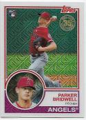 2018 Topps '83 1983 35th Anniversary Silver Pack Chrome #50 Parker Bridwell RC Rookie Los Angeles Angels