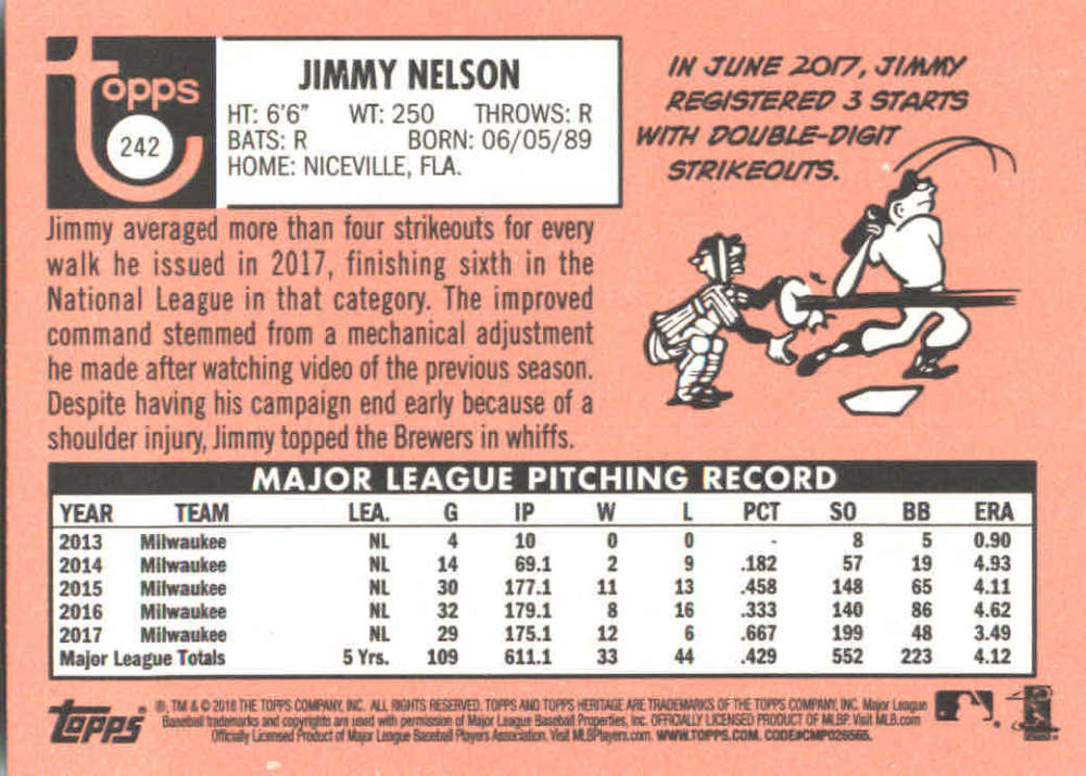 2018-Heritage-Baseball-Card-Singles-201-400-You-Pick-Complete-Your-Set thumbnail 73