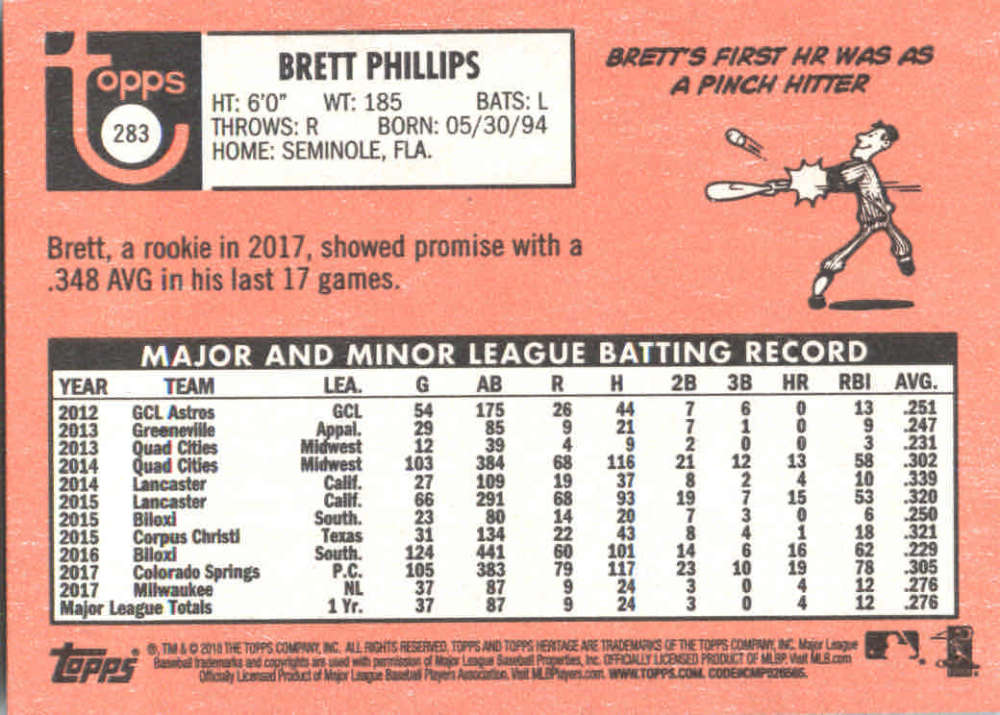 2018-Heritage-Baseball-Card-Singles-201-400-You-Pick-Complete-Your-Set thumbnail 143