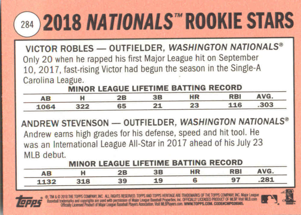 2018-Heritage-Baseball-Card-Singles-201-400-You-Pick-Complete-Your-Set thumbnail 145