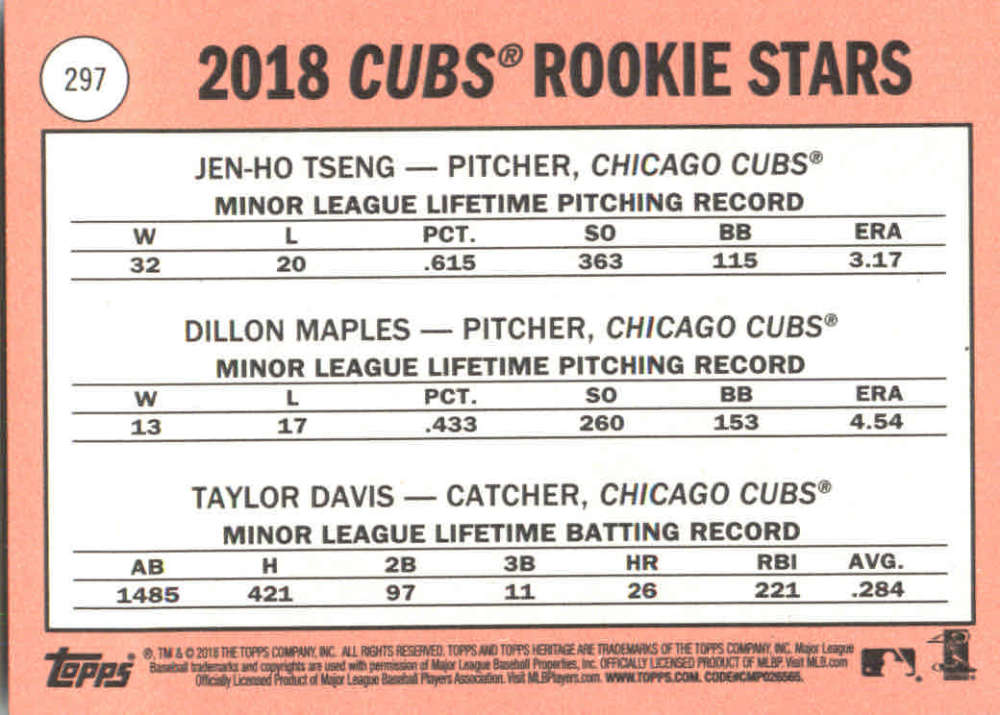 2018-Heritage-Baseball-Card-Singles-201-400-You-Pick-Complete-Your-Set thumbnail 169