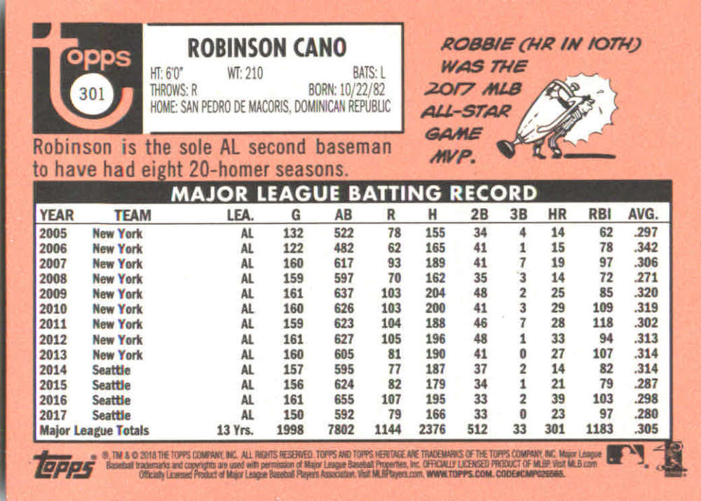 2018-Heritage-Baseball-Card-Singles-201-400-You-Pick-Complete-Your-Set thumbnail 177