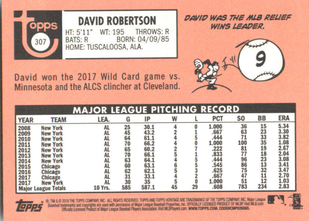 2018-Heritage-Baseball-Card-Singles-201-400-You-Pick-Complete-Your-Set thumbnail 189