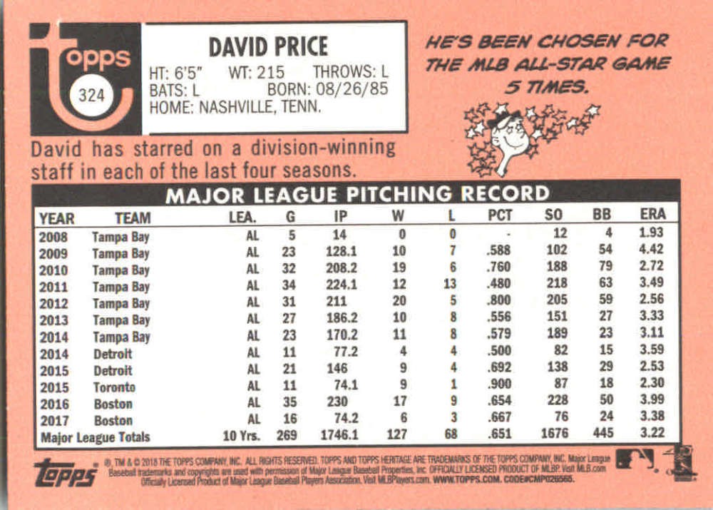 2018-Heritage-Baseball-Card-Singles-201-400-You-Pick-Complete-Your-Set thumbnail 217