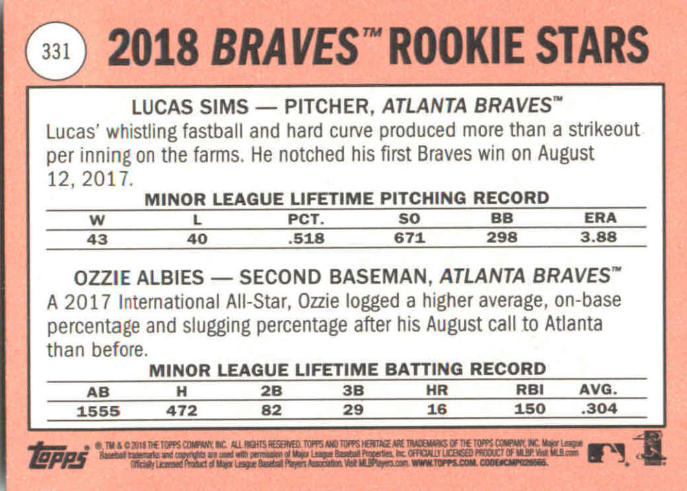 2018-Heritage-Baseball-Card-Singles-201-400-You-Pick-Complete-Your-Set thumbnail 227