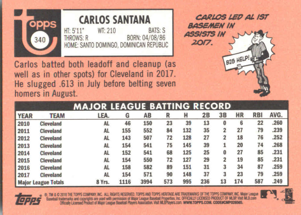 2018-Heritage-Baseball-Card-Singles-201-400-You-Pick-Complete-Your-Set thumbnail 243