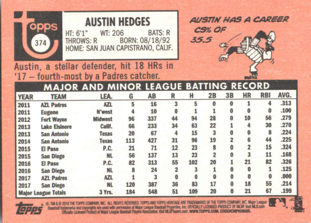 2018-Heritage-Baseball-Card-Singles-201-400-You-Pick-Complete-Your-Set thumbnail 293