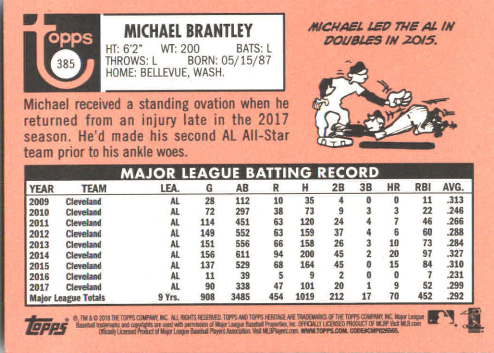 2018-Heritage-Baseball-Card-Singles-201-400-You-Pick-Complete-Your-Set thumbnail 309