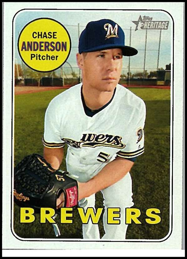 2018 Topps Heritage #432 Chase Anderson NM+ SP