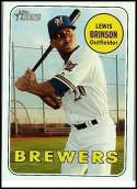 2018 Topps Heritage #407 Lewis Brinson SP Milwaukee Brewers