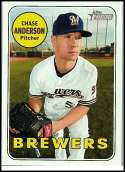 2018 Topps Heritage #432 Chase Anderson SP Milwaukee Brewers