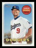 2018 Topps Heritage #470 Yasmani Grandal SP Los Angeles Dodgers