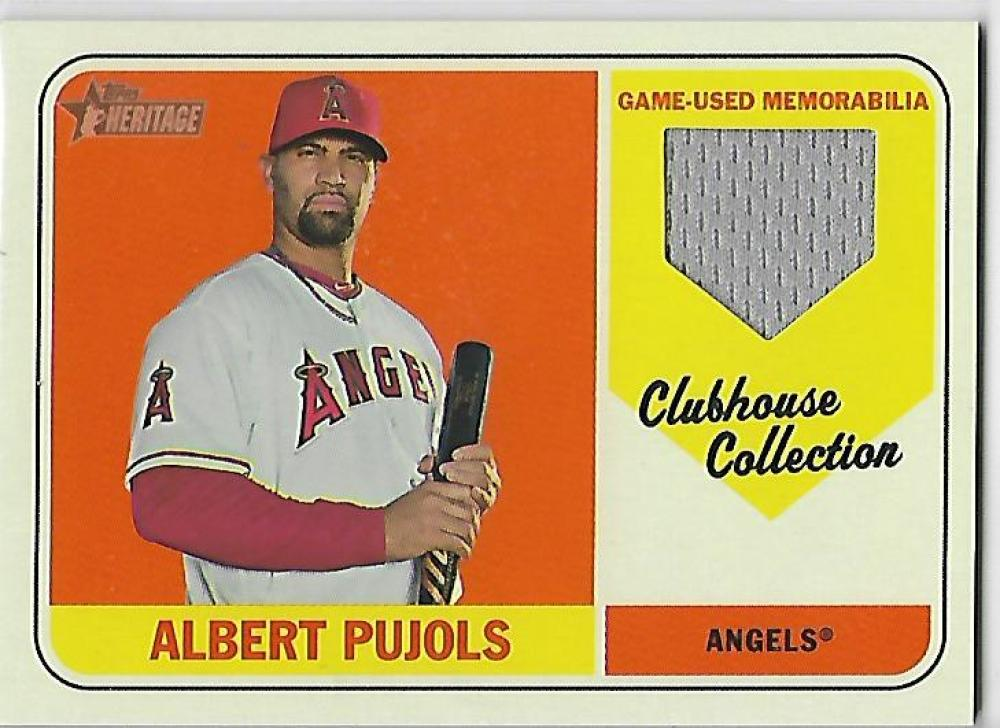 2018 Topps Heritage Clubhouse Collection Relics
