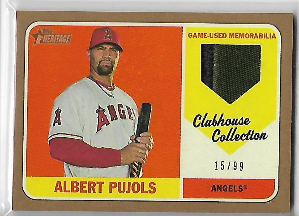2018 Topps Heritage Clubhouse Collection Relics Gold