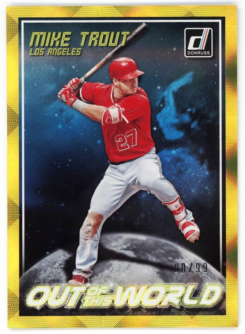 2018 Donruss  Out of this World Gold