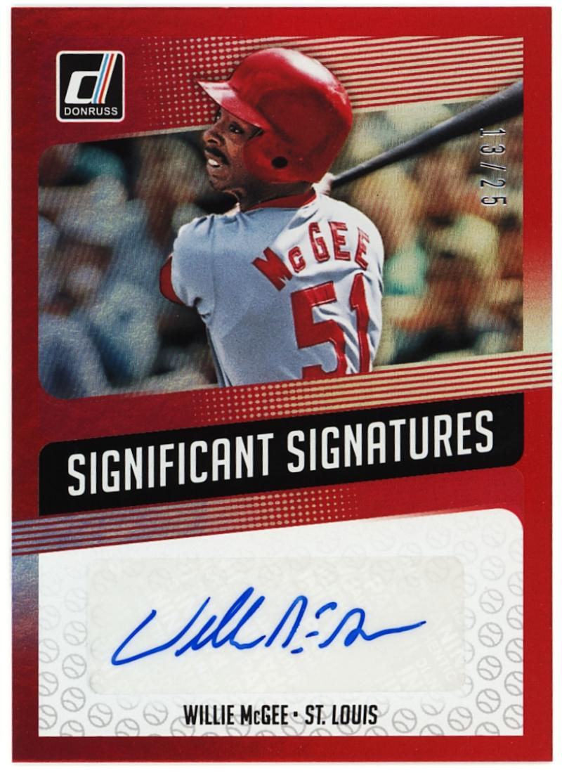 2018 Donruss  Significant Signatures Red