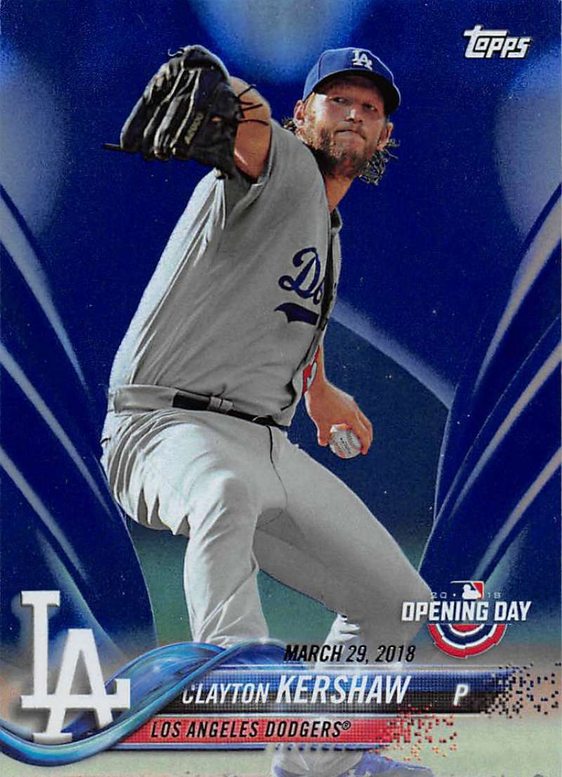 2018 Topps Opening Day Blue Foil