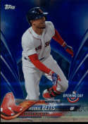 2018 Topps Opening Day Blue Foil #22 Mookie Betts Boston Red Sox