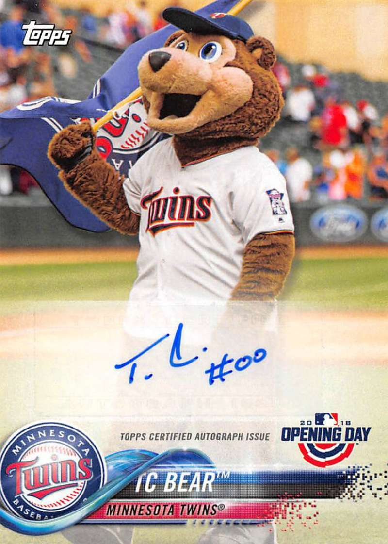 2018 Topps Opening Day Mascot Autographs
