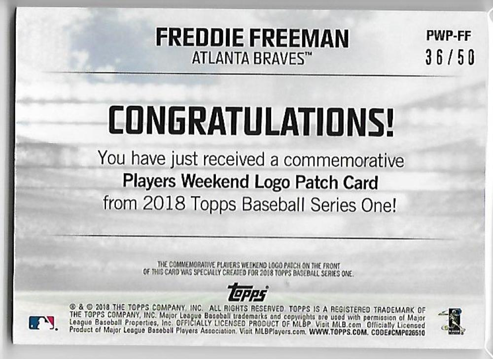 4684a110c 2018 Topps MLB Players Weekend Commemorative Patches Gold Baseball ...