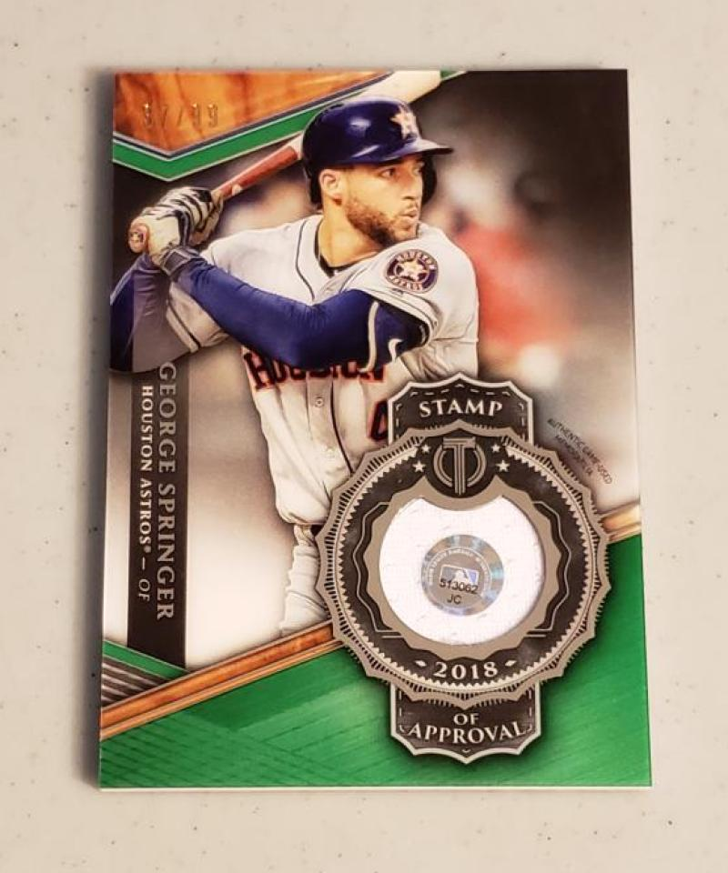 2018 Topps Tribute Stamp of Approval Relics
