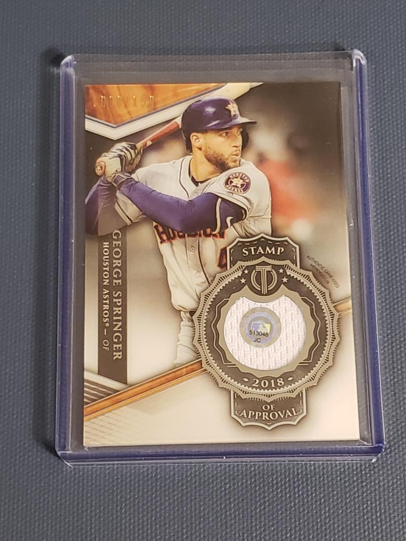 2018 Topps Tribute Stamp of Approval Relics White