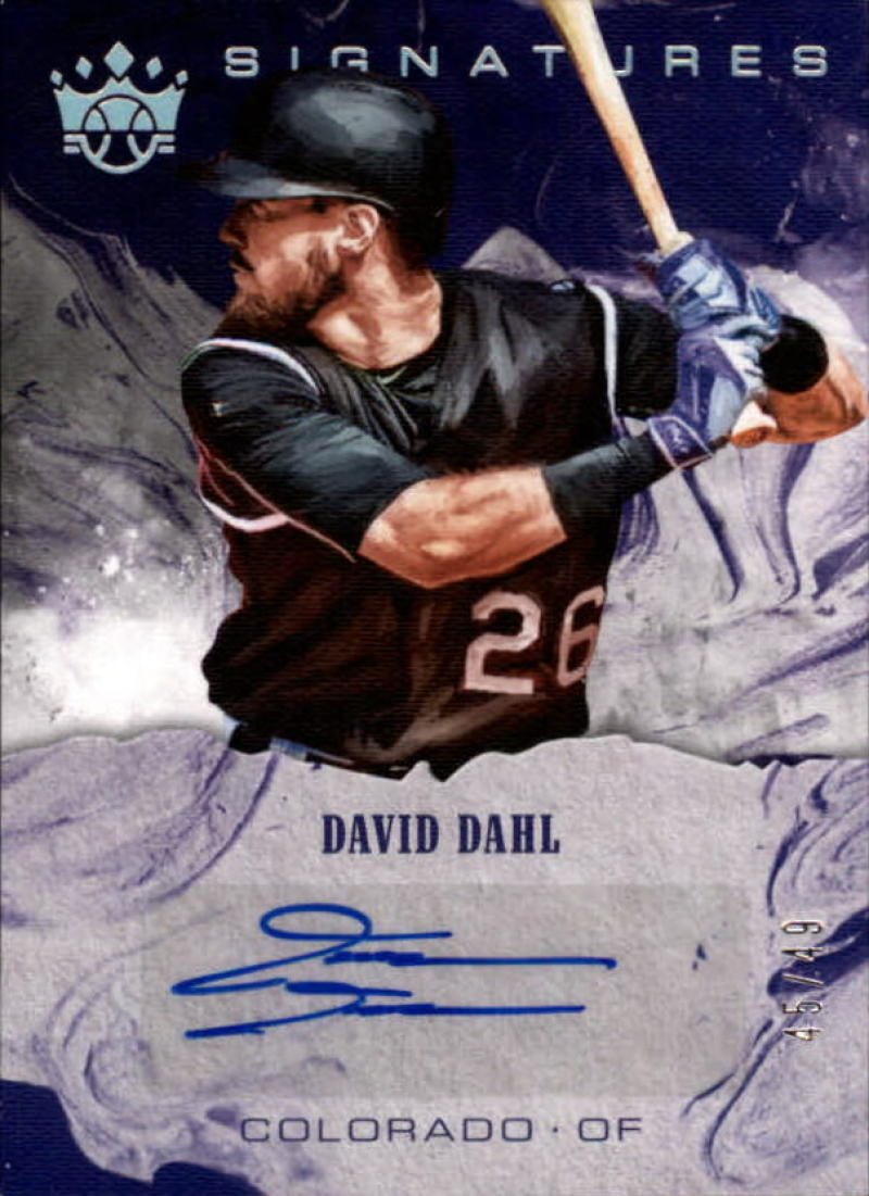 2018 Panini Diamond Kings DK Signatures Holo Silver