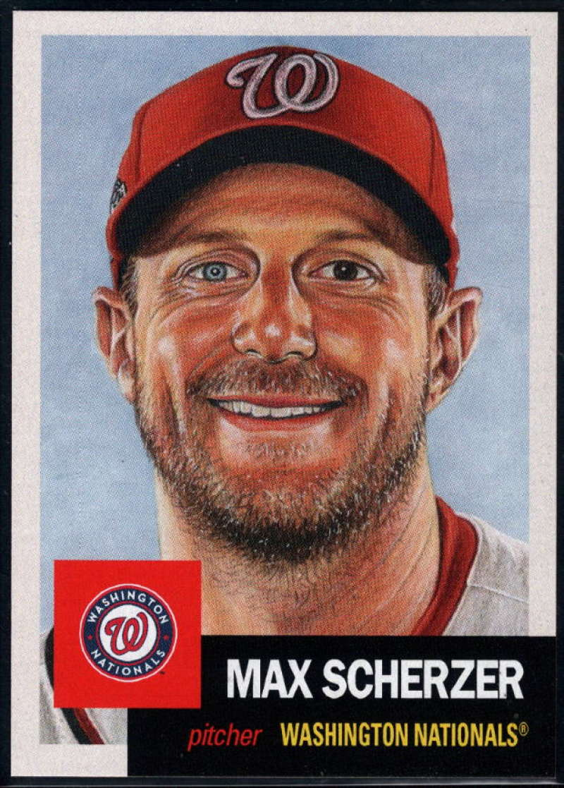 2018 Topps Living Set #52 Max Scherzer Washington Nationals �MLB Baseball Trading Card
