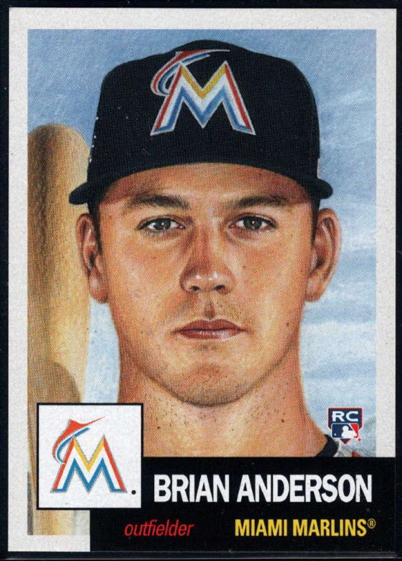 2018 Topps Living Set #56 Brian Anderson RC Rookie Miami Marlins �MLB Baseball Trading Card