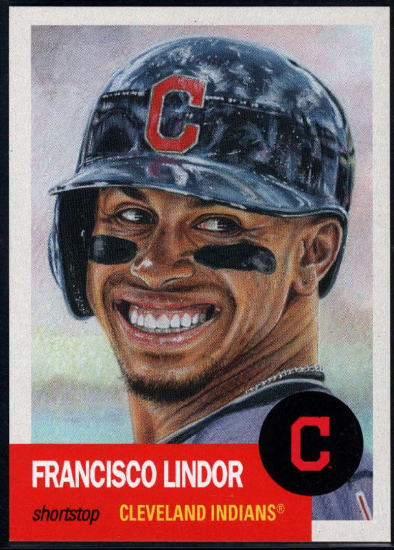 2018 Topps The Living Set #61 Francisco Lindor Cleveland Indians Online Exclusive Baseball Trading Card SOLD OUT at Topp