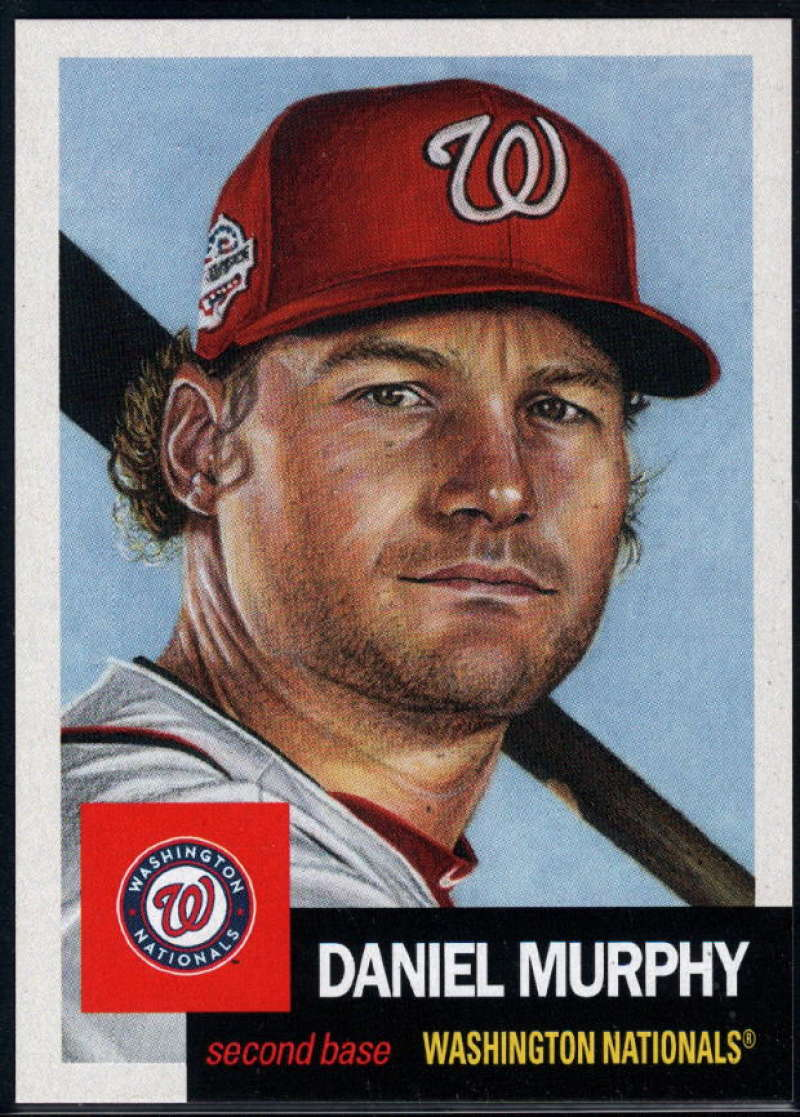2018 Topps The Living Set #68 Daniel Murphy Washington Nationals Online Exclusive Baseball Trading Card SOLD OUT at Topp