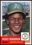 2018 Topps Living Set #28 Rickey Henderson Oakland Athletics MLB Baseball Trading Card