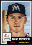 2018 Topps MLB The Living Set #56 Brian Anderson RC Rookie Miami Marlins