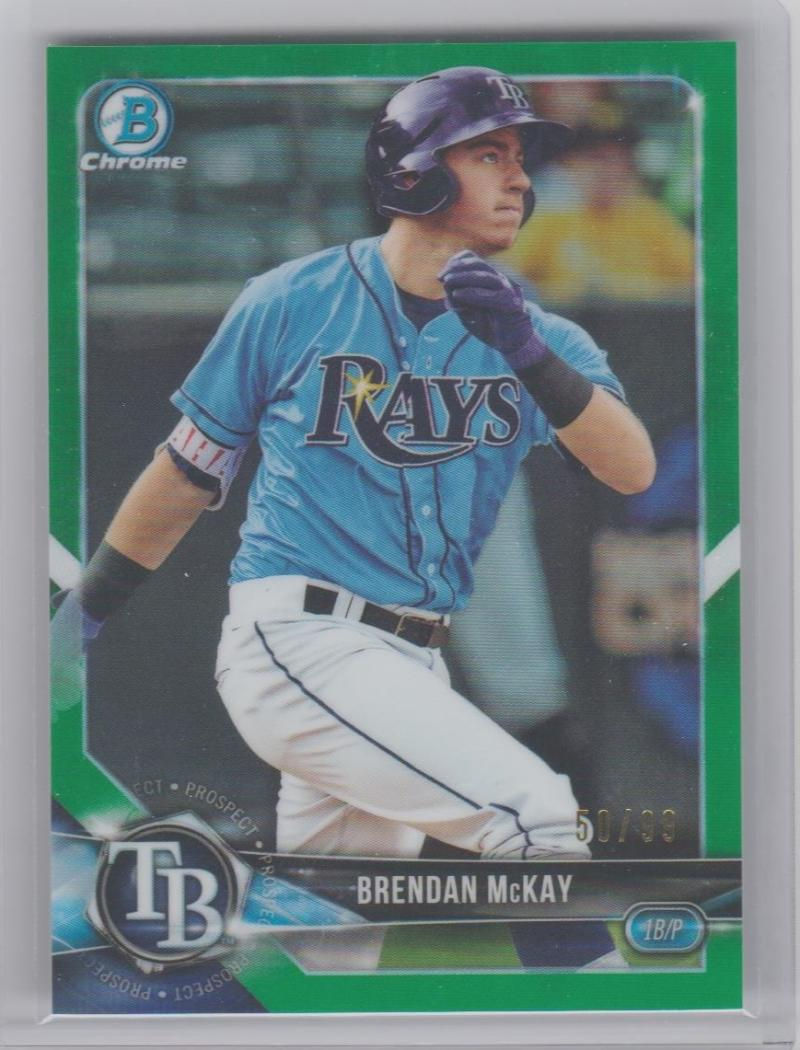 2018 Bowman  Chrome Prospects Refractors Green