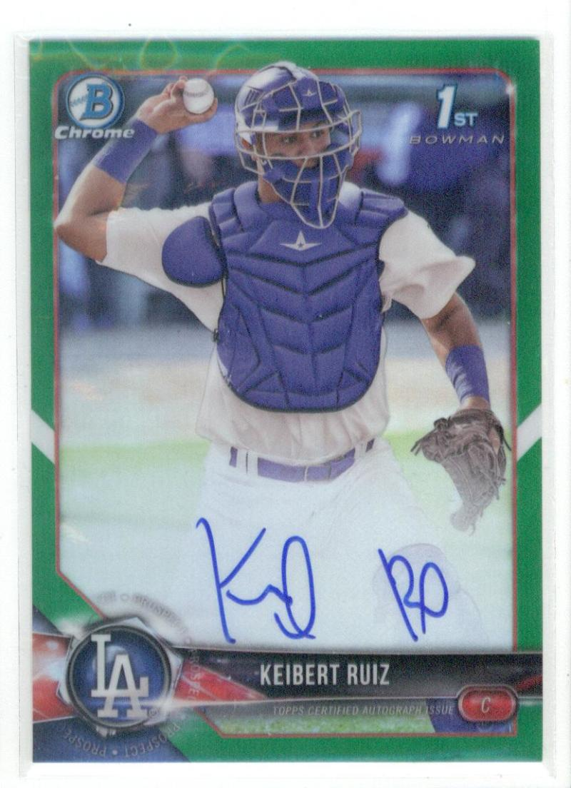 2018 Bowman  Chrome Prospect Autographs Refractors Green