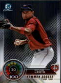 2018 Bowman Chrome Refractor Scouts Top 100 #BTP-20 Royce Lewis Minnesota Twins Baseball Card