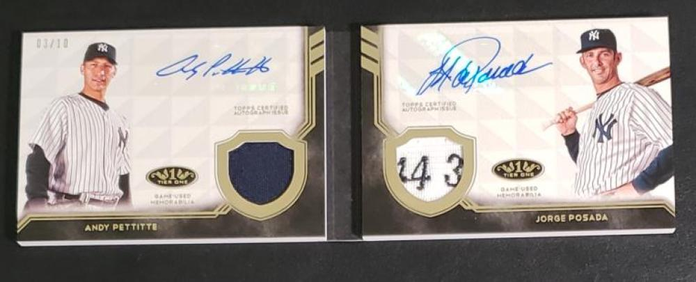 2018 Topps Tier One Dual Autographed Relic Books