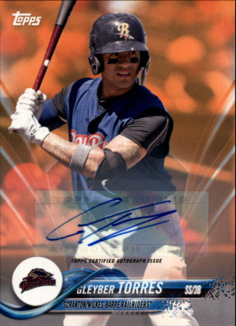 2018 Topps Pro Debut Autographs Orange