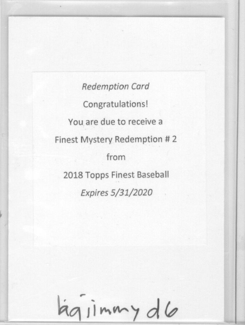 2018 Finest  Mystery Redemption