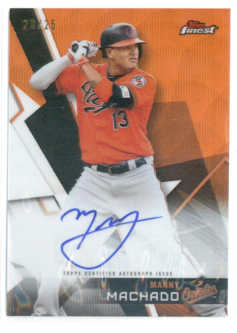 2018 Finest  Autographs Refractors Orange Wave