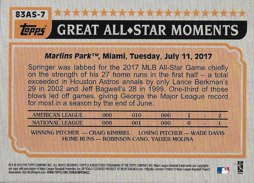 2018-Topps-039-83-Topps-Baseball-All-Stars-Your-Choice-GOTBASEBALLCARDS thumbnail 8