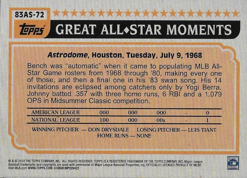 2018-Topps-039-83-Topps-Baseball-All-Stars-Your-Choice-GOTBASEBALLCARDS thumbnail 82