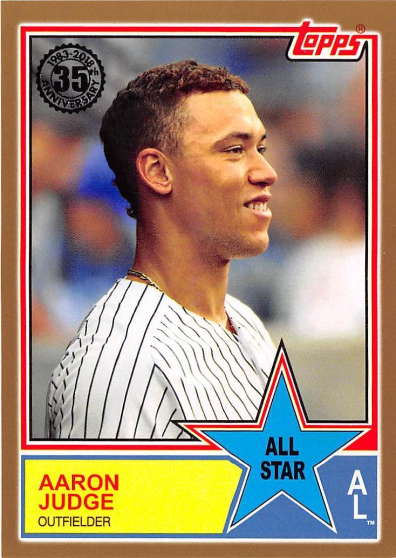 2018 Topps 1983 Topps All Stars Gold Baseball Checklist